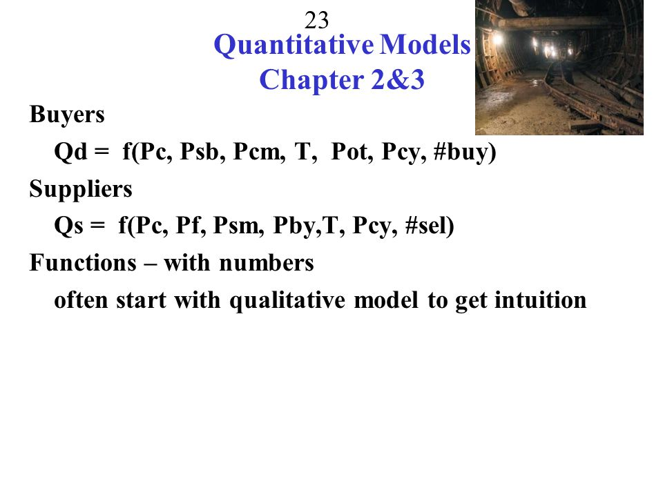 Quantitative Models Chapter 2&3