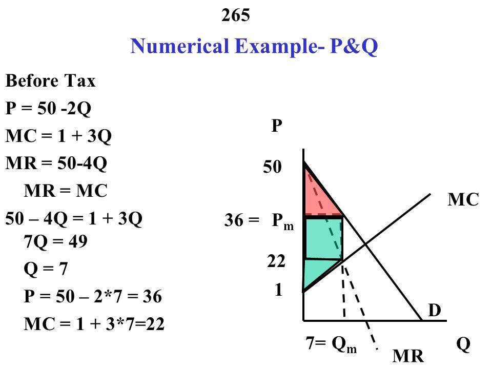 Numerical Example- P&Q