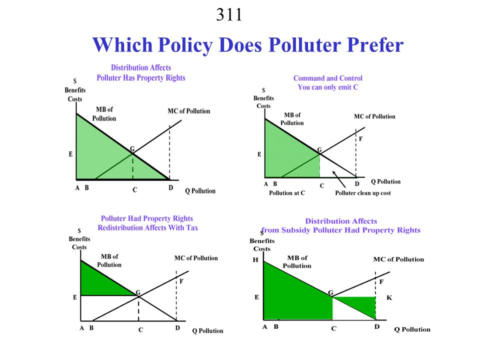 Which Policy Does Polluter Prefer