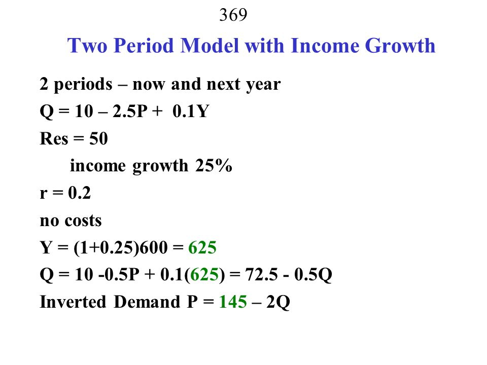 Two Period Model with Income Growth