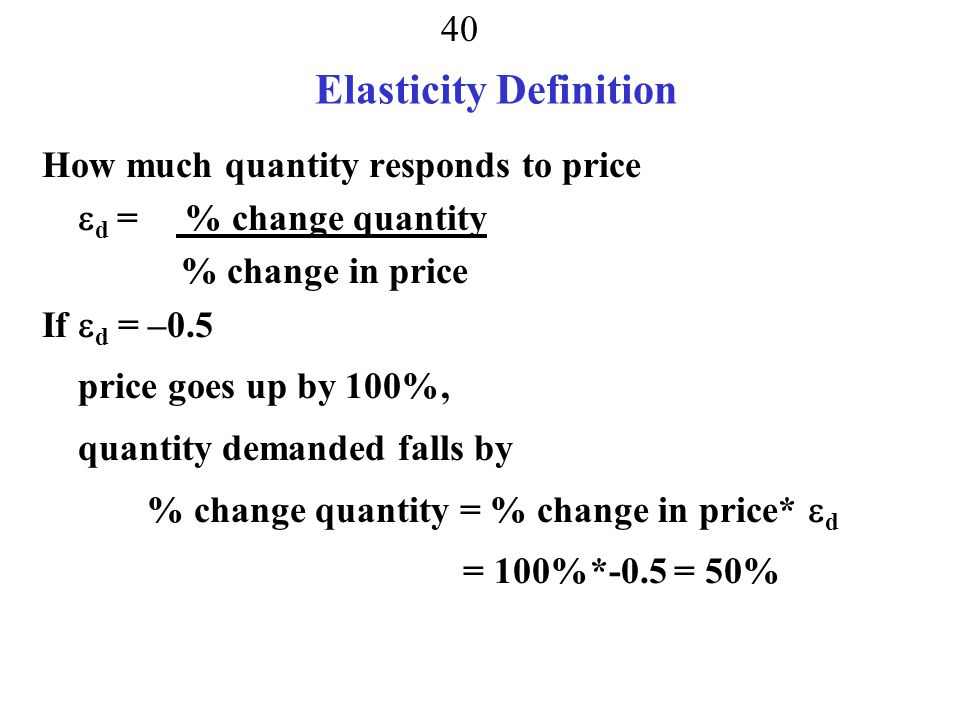 Elasticity Definition