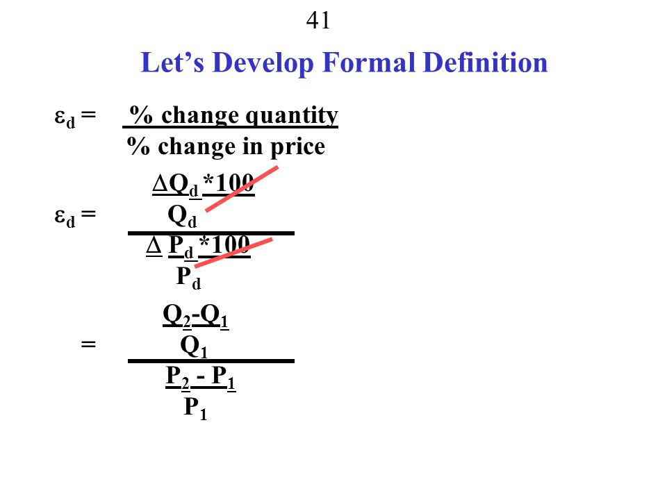 Let's Develop Formal Definition