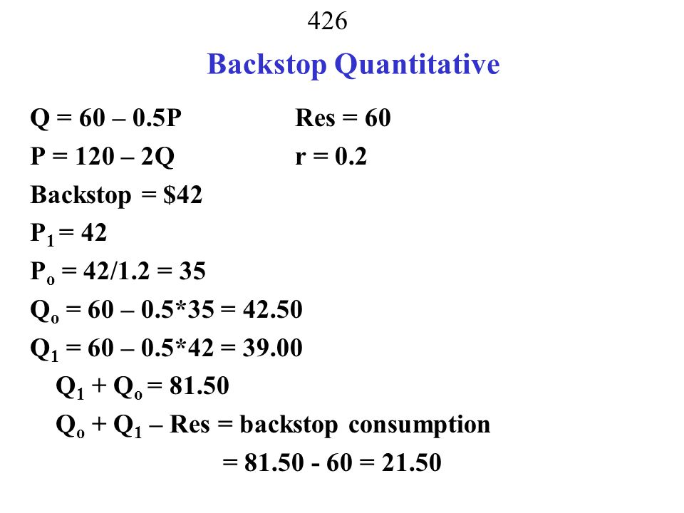 Backstop Quantitative