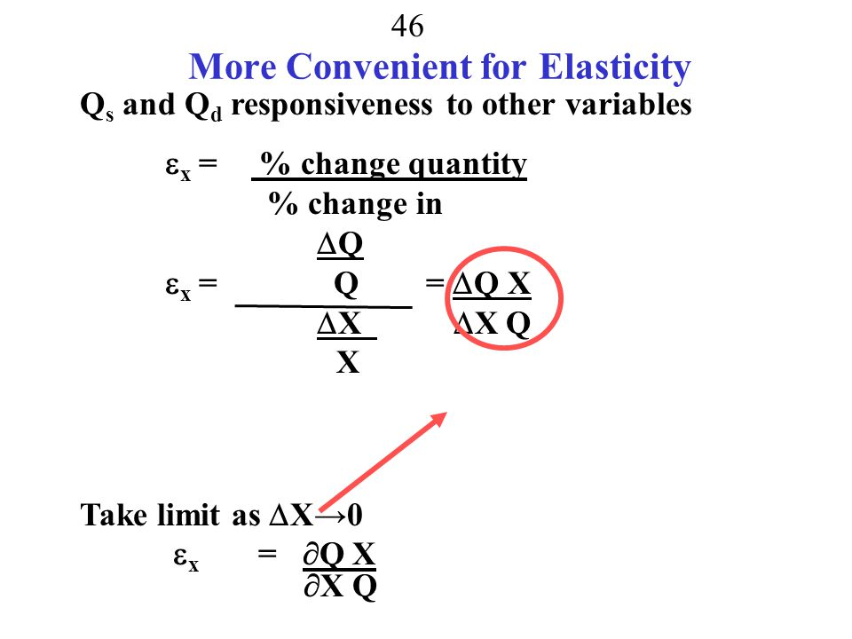More Convenient for Elasticity
