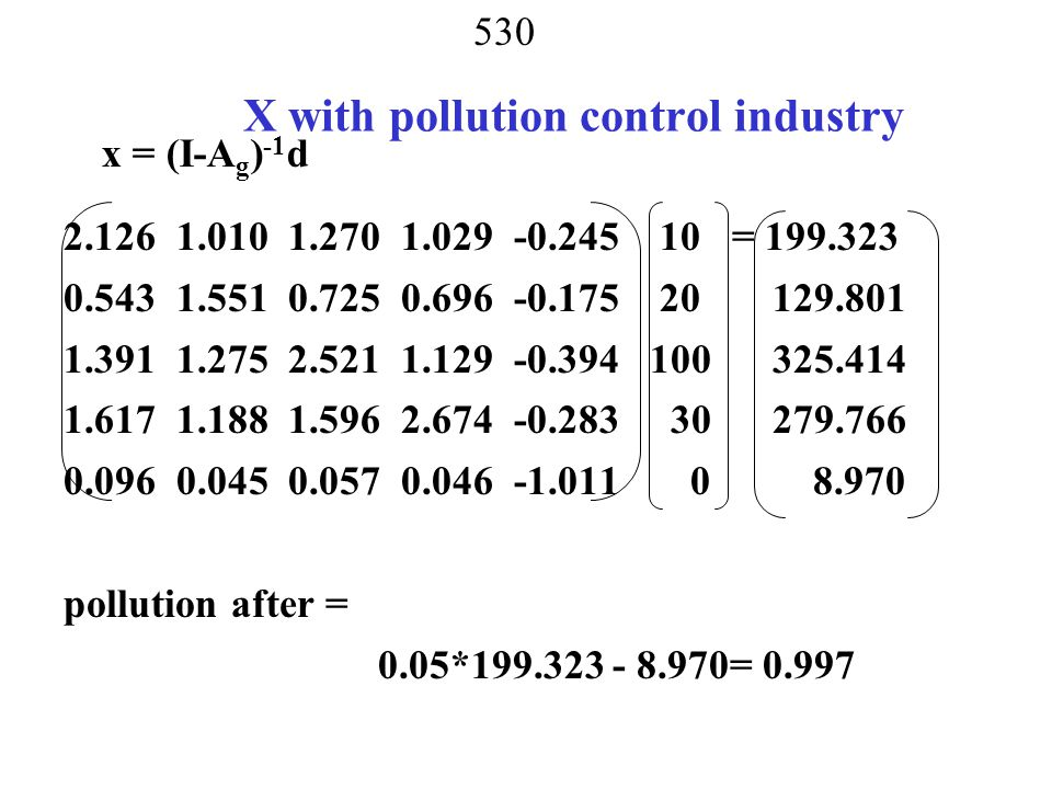 X with pollution control industry