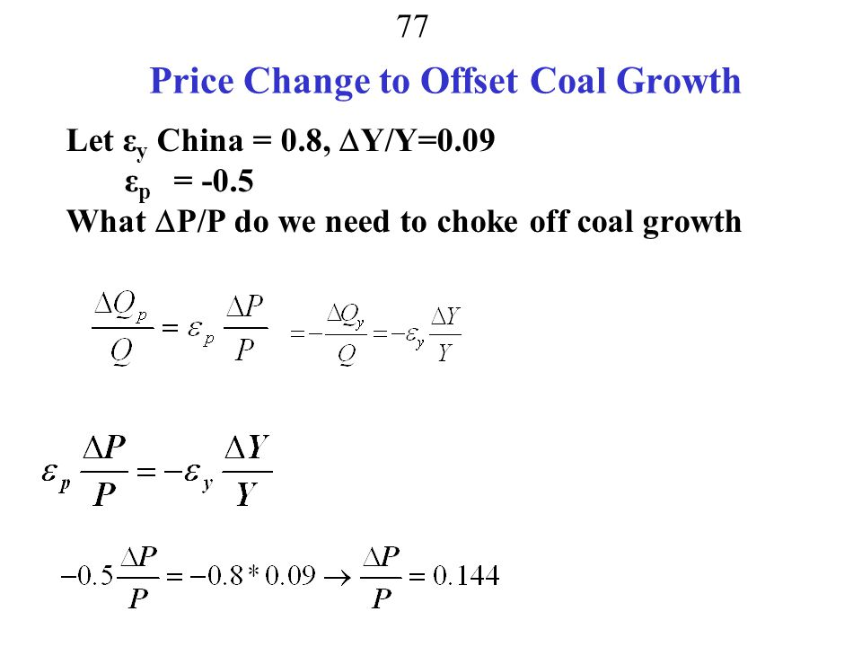 Price Change to Offset Coal Growth