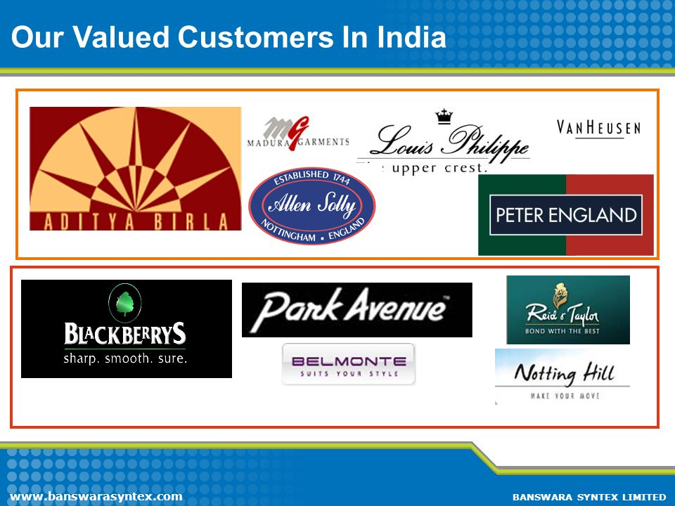 Our Valued Customers In India