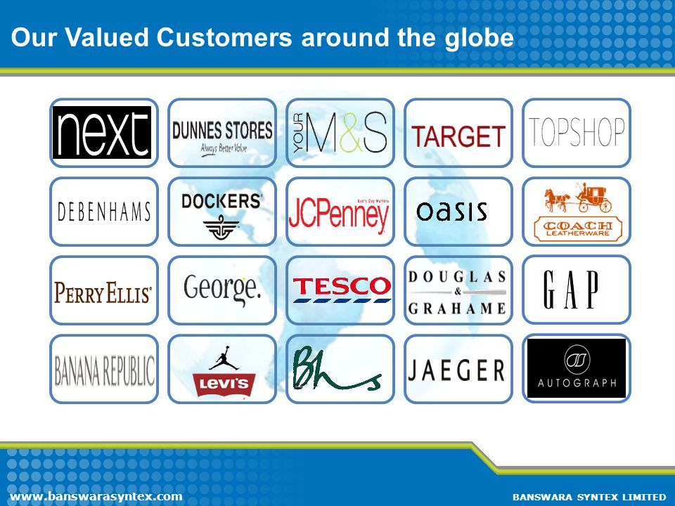 Our Valued Customers around the globe