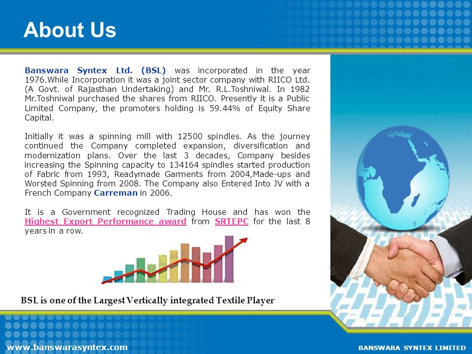 Presentation Flow About Us