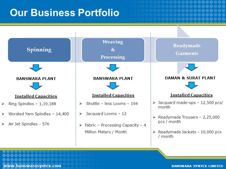 Our Business Portfolio