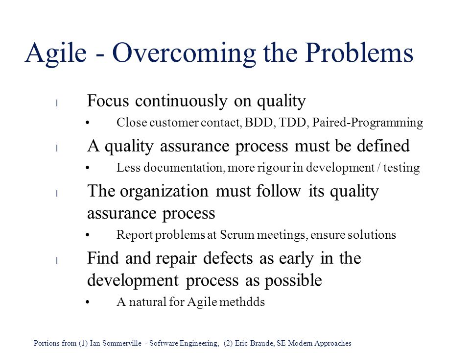 Agile - Overcoming the Problems