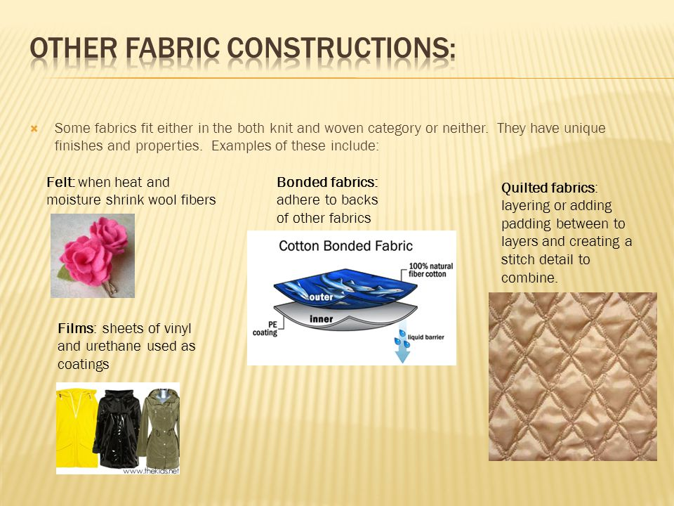 Other fabric constructions: