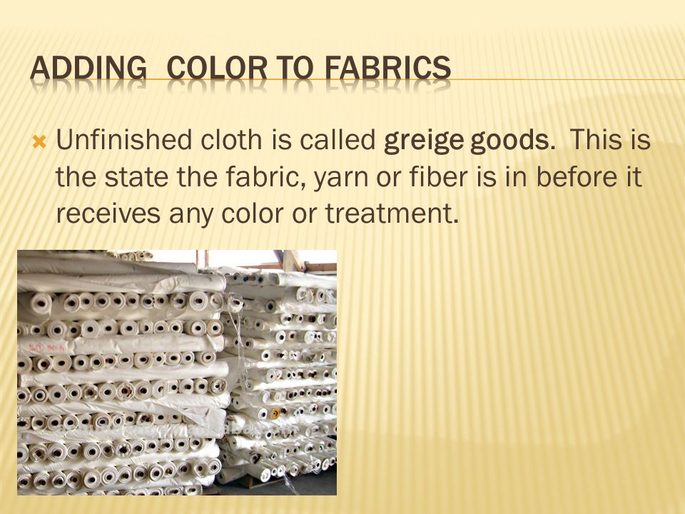 Adding color to fabrics