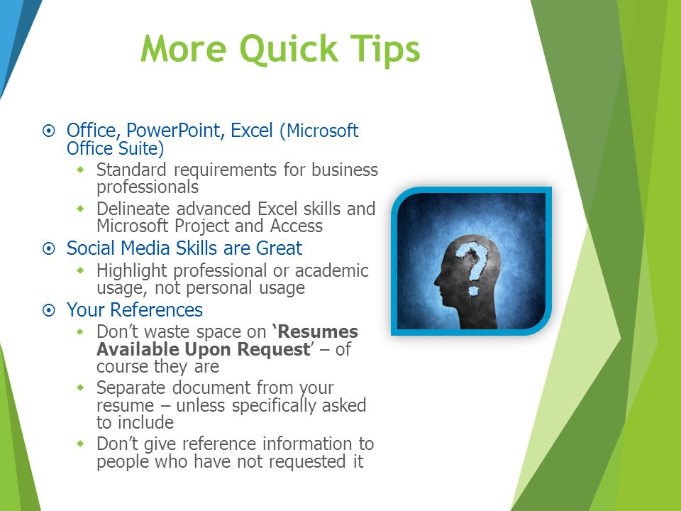 More Quick Tips Office, PowerPoint, Excel (Microsoft Office Suite)
