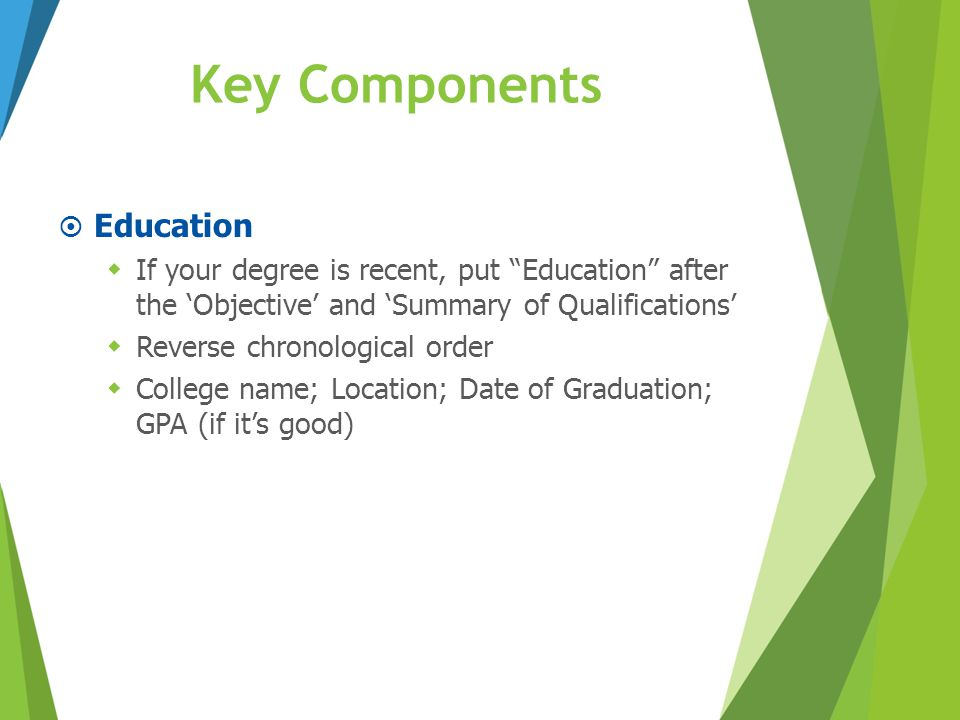 Key Components Education