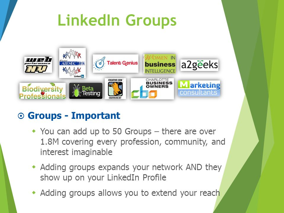 LinkedIn Groups Groups - Important