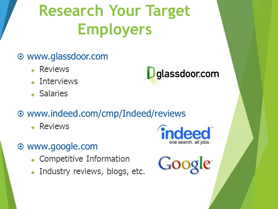 Research Your Target Employers
