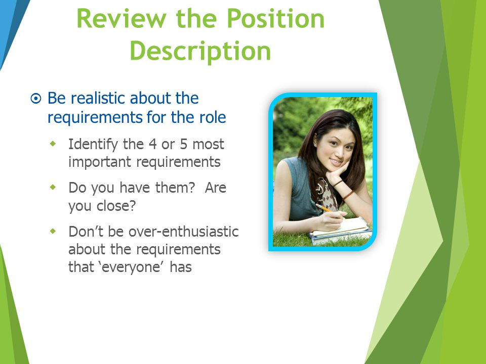 Review the Position Description
