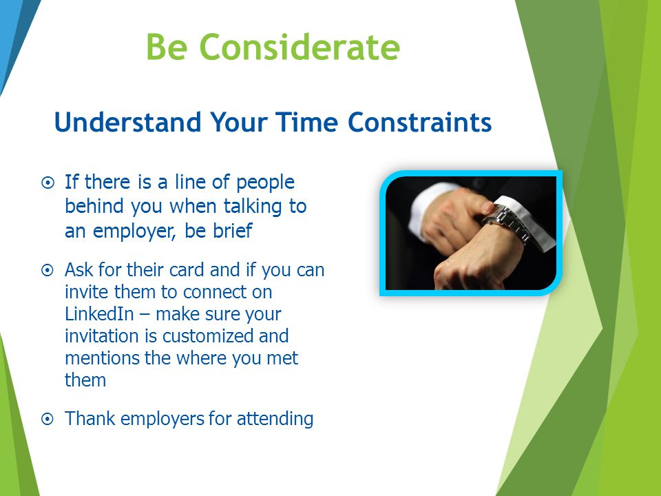 Understand Your Time Constraints