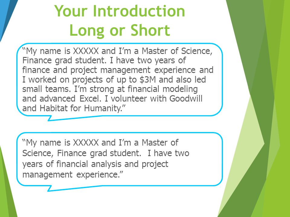 Your Introduction Long or Short