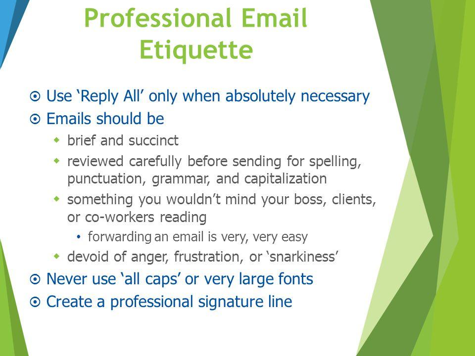 Professional Email Etiquette