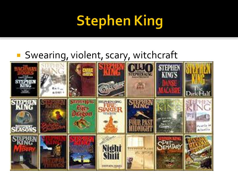 Stephen King Swearing, violent, scary, witchcraft