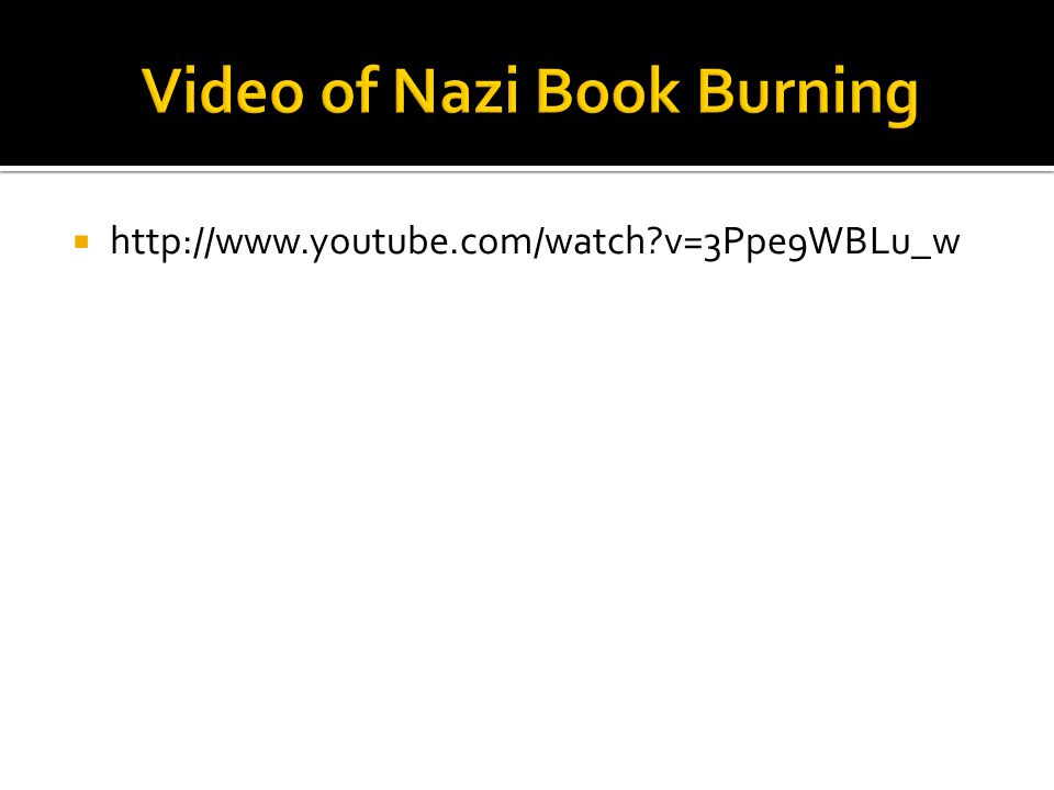 Video of Nazi Book Burning