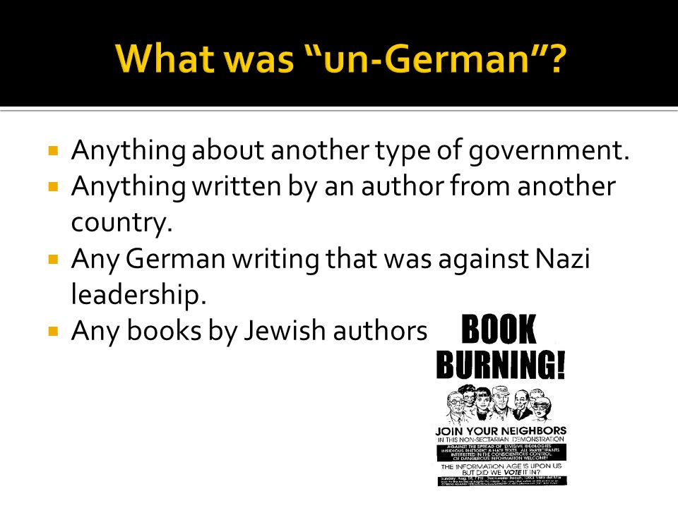 What was un-German Anything about another type of government.