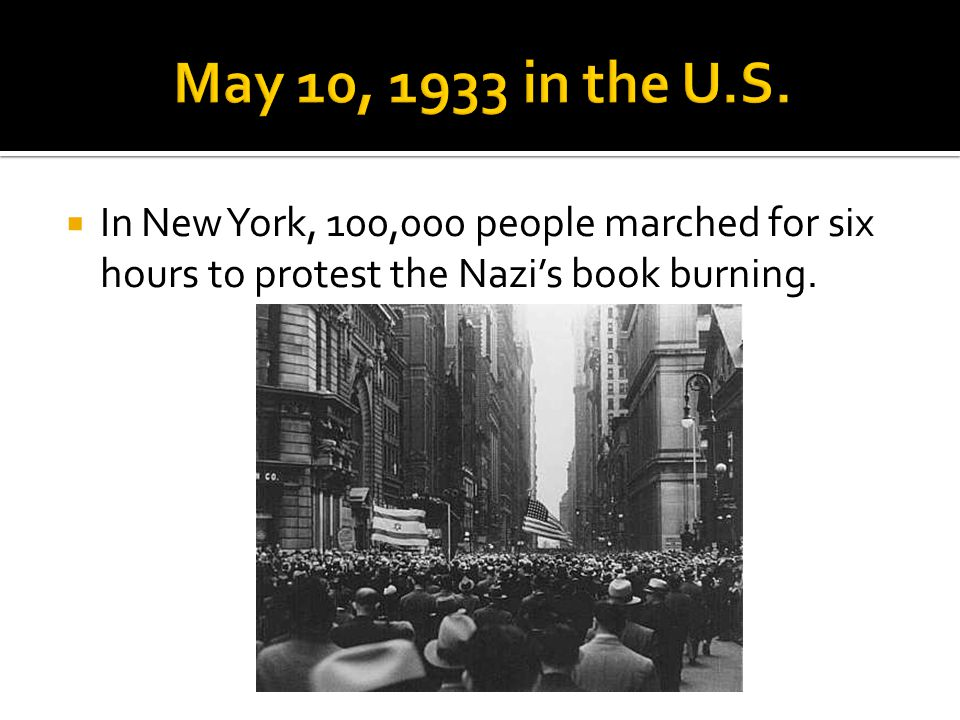 May 10, 1933 in the U.S.
