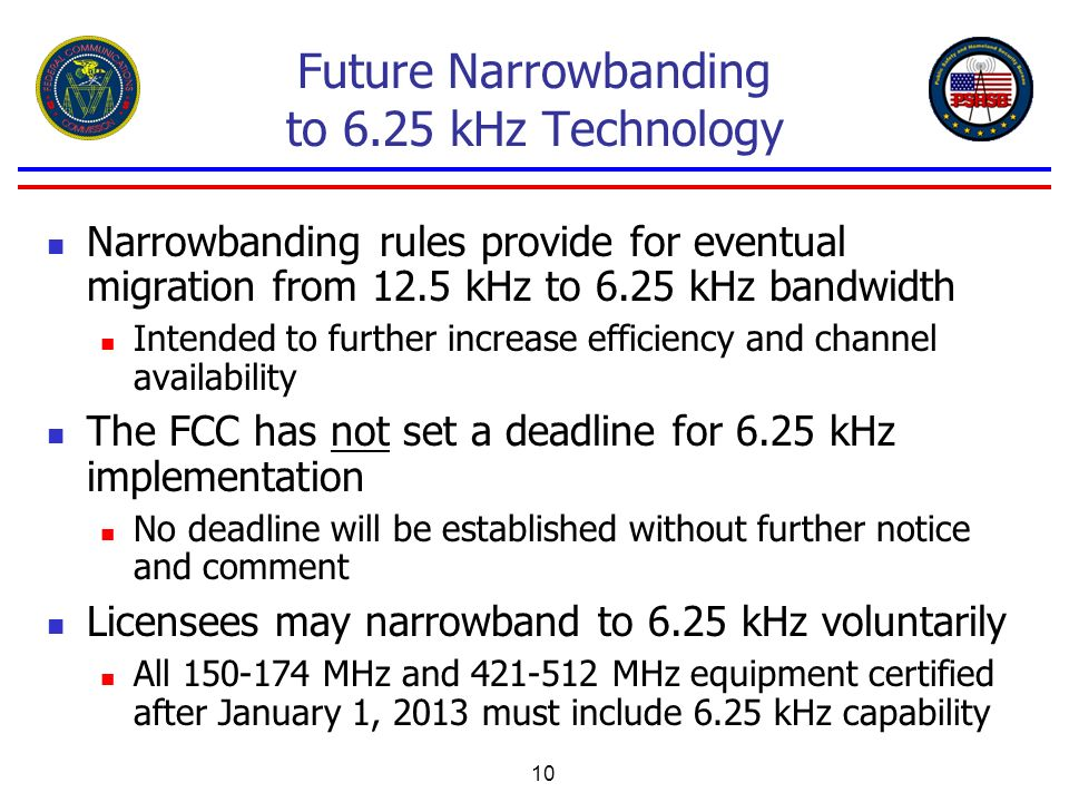 Future Narrowbanding to 6.25 kHz Technology