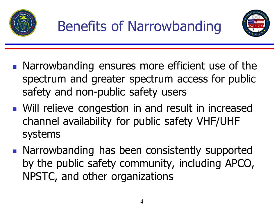 Benefits of Narrowbanding