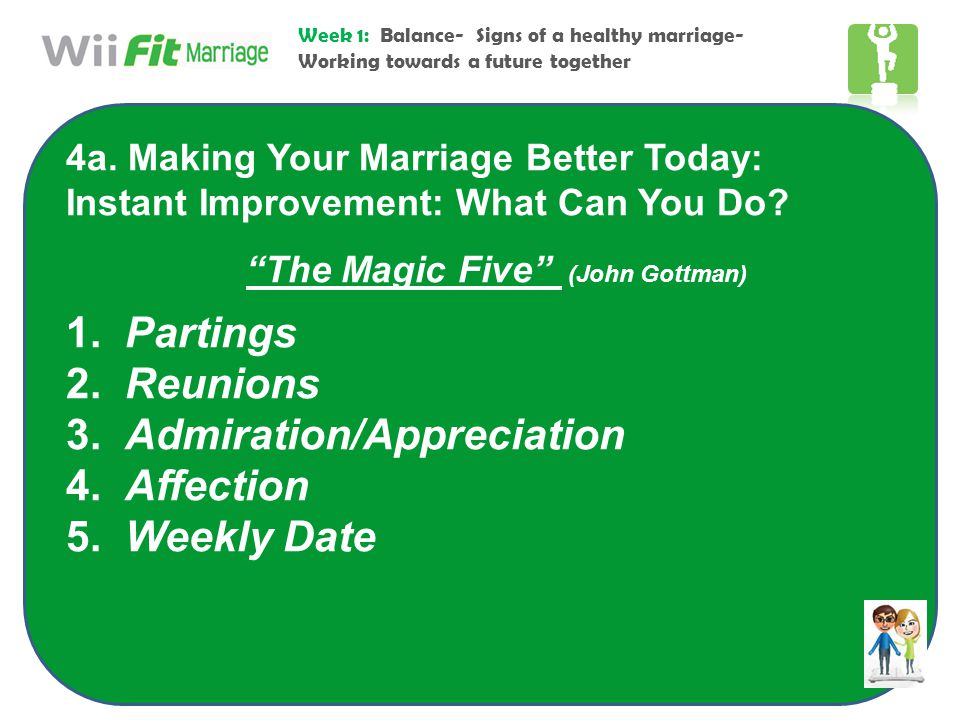 The Magic Five (John Gottman)