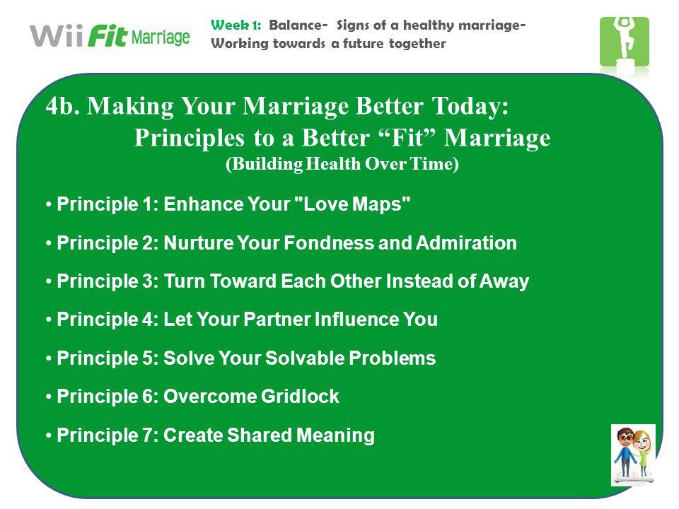 Principles to a Better Fit Marriage (Building Health Over Time)
