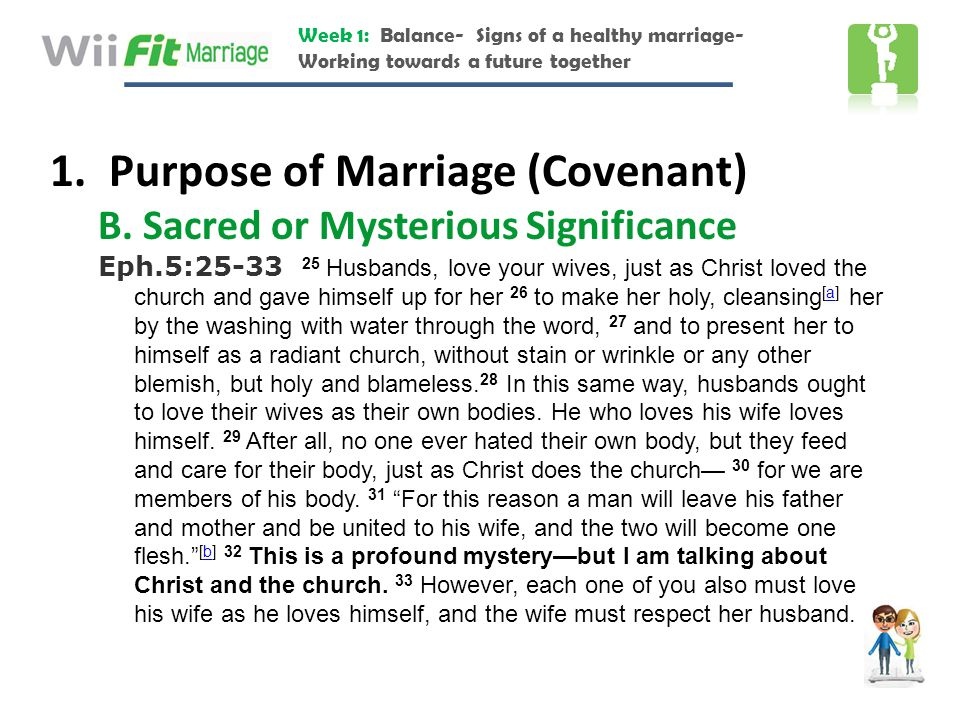 Purpose of Marriage (Covenant)
