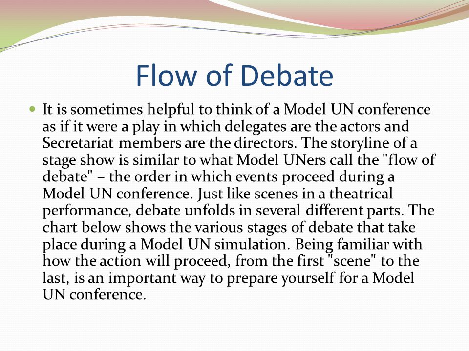Flow of Debate