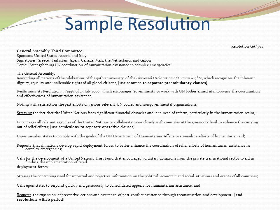 Sample Resolution