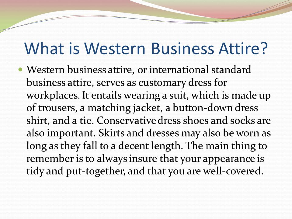 What is Western Business Attire