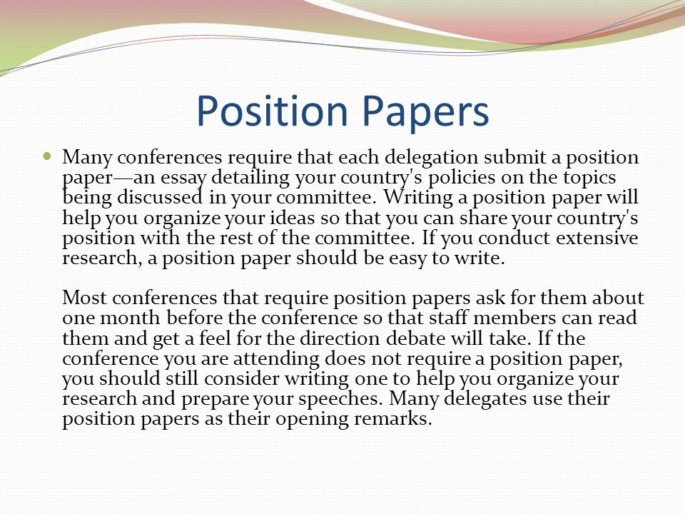 How to Write a Position Paper Part 1: Topic Background