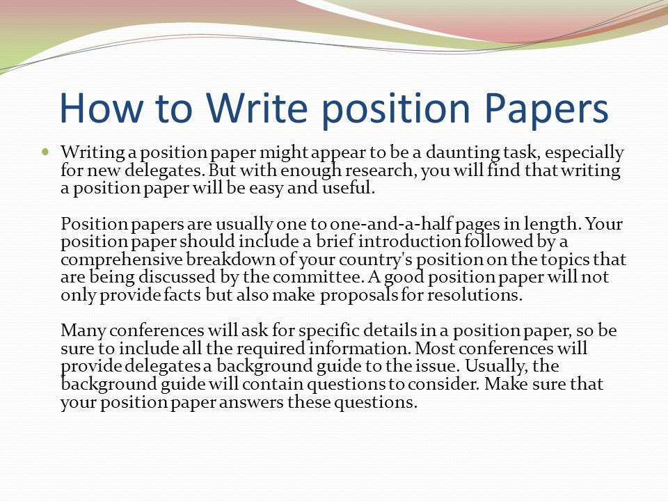 topics for position papers Adaa has signed advocacy letters and published the following papers and reports about mental health issues position papers | anxiety and depression association of america, adaa skip to main content.