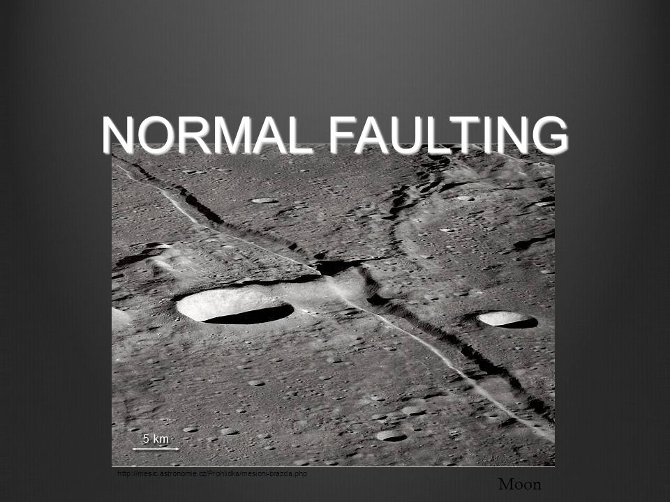 NORMAL FAULTING http://mesic.astronomie.cz/Prohlidka/mesicni-brazda.php Moon