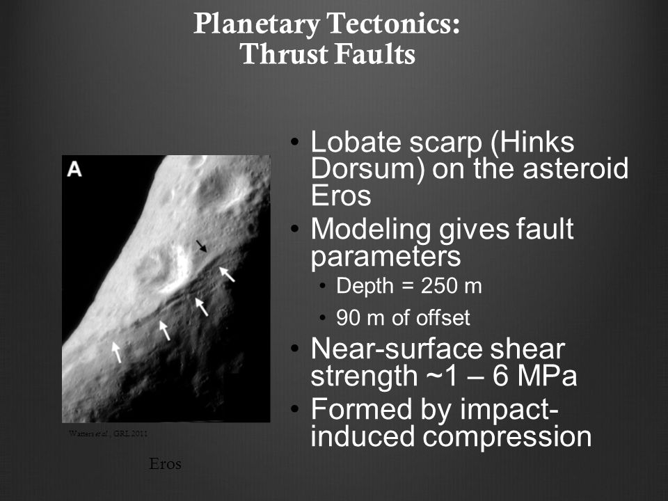 Planetary Tectonics: Thrust Faults