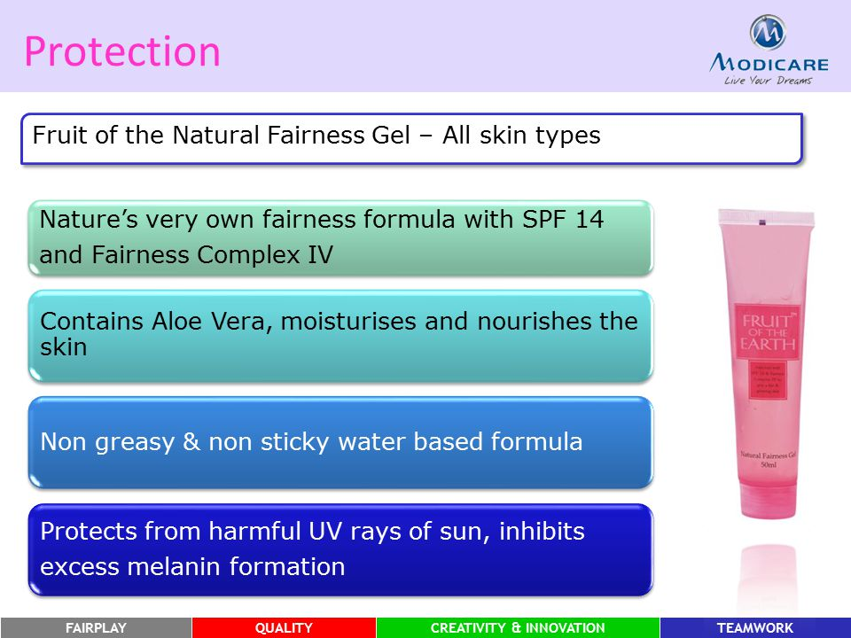 Protection Fruit of the Natural Fairness Gel – All skin types