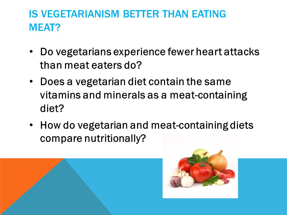 Is vegetarianism better than eating meat