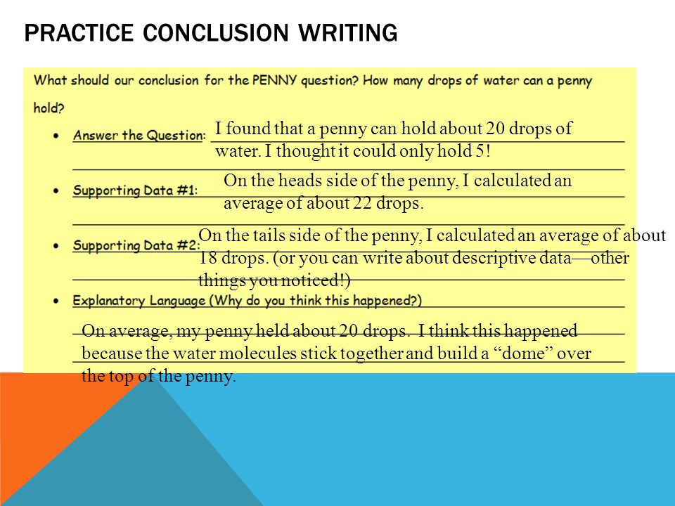 Practice conclusion writing