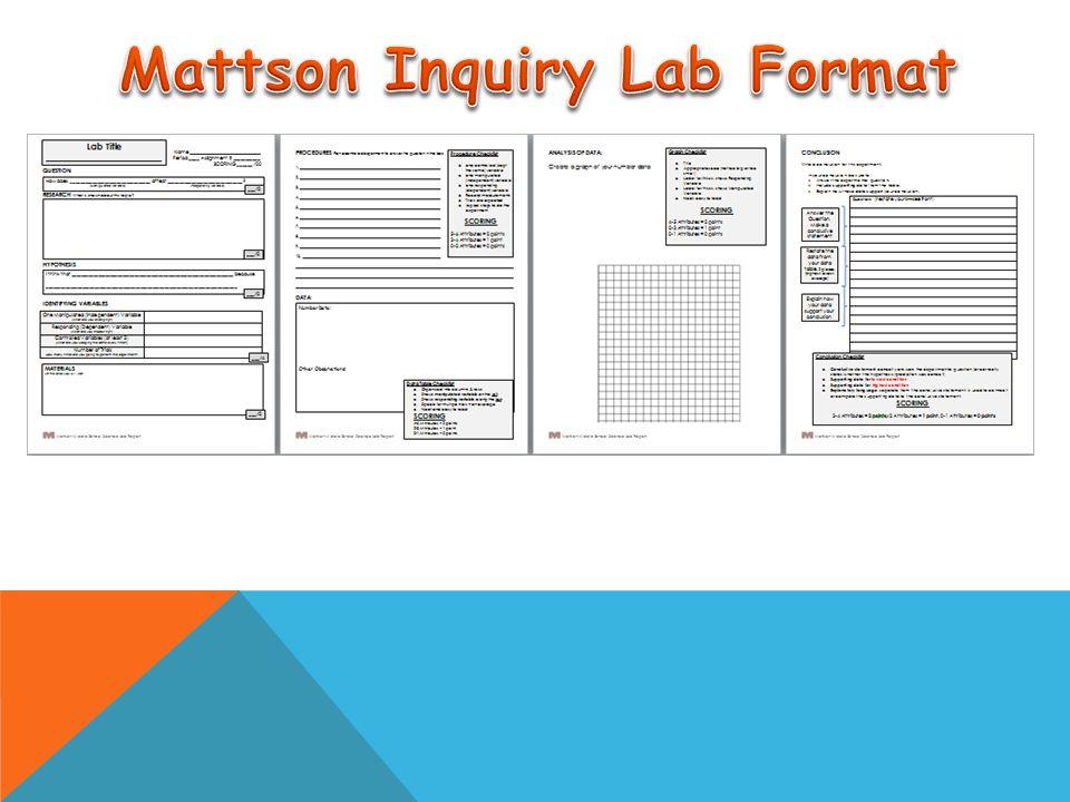 Mattson Inquiry Lab Format
