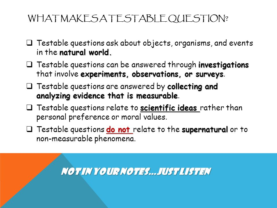 What Makes a Testable Question