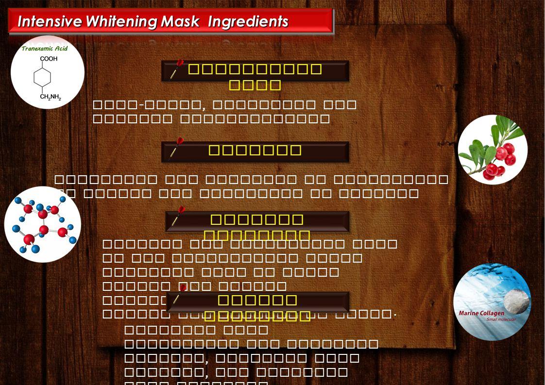 Intensive Whitening Mask Ingredients