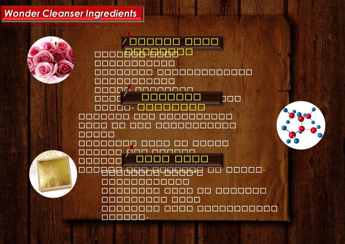 Wonder Cleanser Ingredients