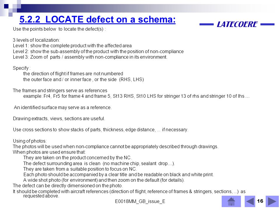 5.2.2 LOCATE defect on a schema: