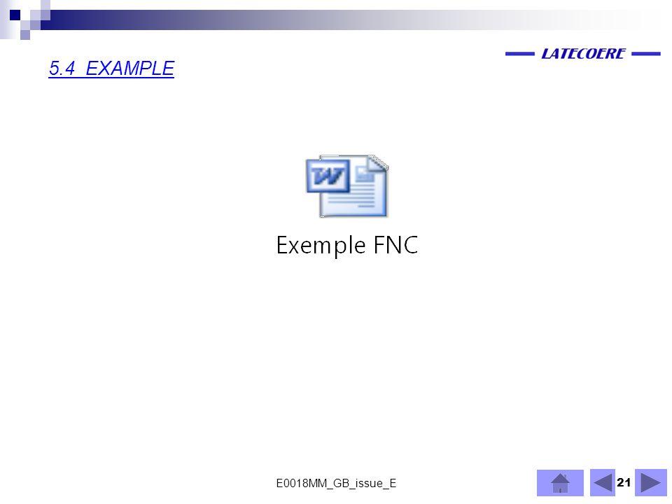 5.4 EXAMPLE E0018MM_GB_issue_E